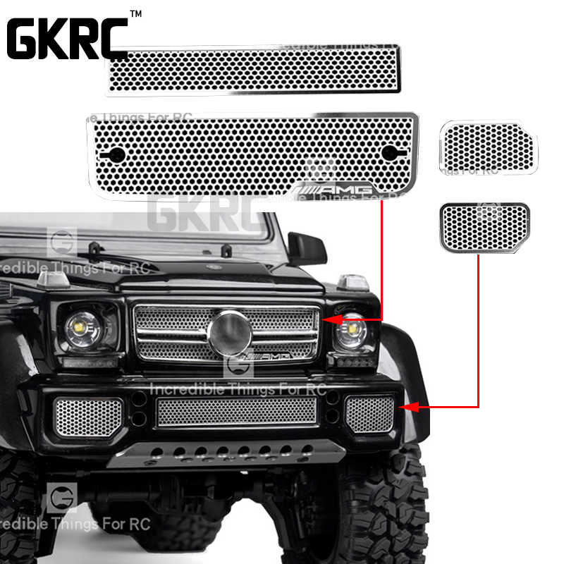 Roestvrij Stalen Grille Intake Grille Cover Voor 1/10 Traxxas Trx-6 Amg 88096-4 G63 Trx-4 G500 Rc Crawler auto Accessoires