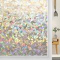 LUCKYYJ 3D Fenster Film Selbst Klebend Statische Privatsphäre Klammert Dekorative Glas Fenster Aufkleber, Anti-Uv, DIY Decor Glas aufkleber