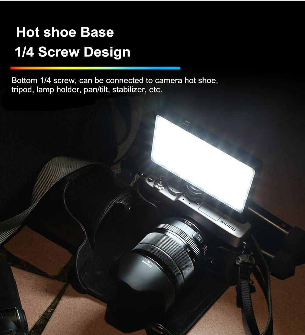 VILTROX Weeylife RB08P RGB 2500 K-8500 K мини видео светодиодный светильник портативный заполняющий светильник встроенный аккумулятор для фотостудии