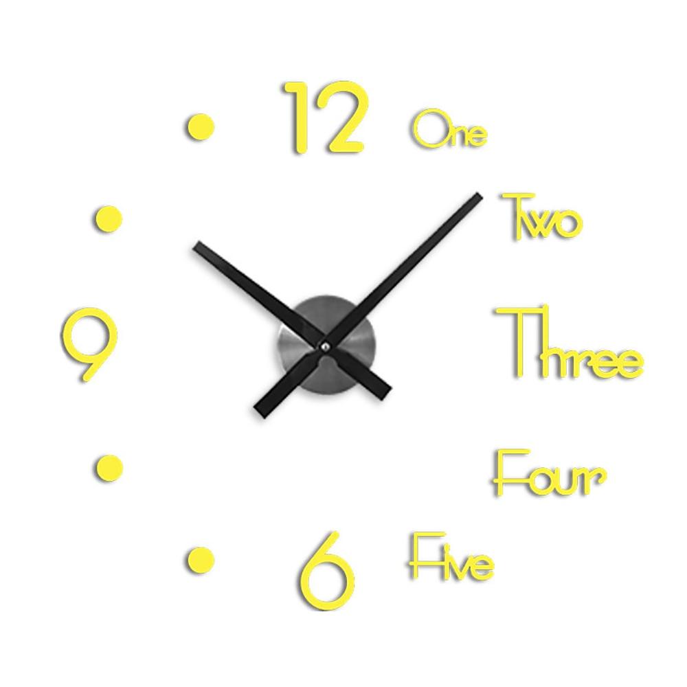 New Decorative Clock Wall Clocks Horloge 3D Diy Acrylic Mirror Stickers Home Decoration Living Room Quartz Needle Dropshipping