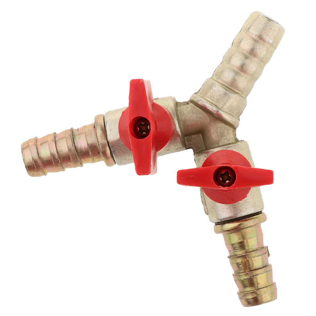 Joyway 3//8 ID Hose Barb Y Shaped Type 1//2 Female Thread Union Intersection//Split Brass Shut Off Ball Valve Fitting