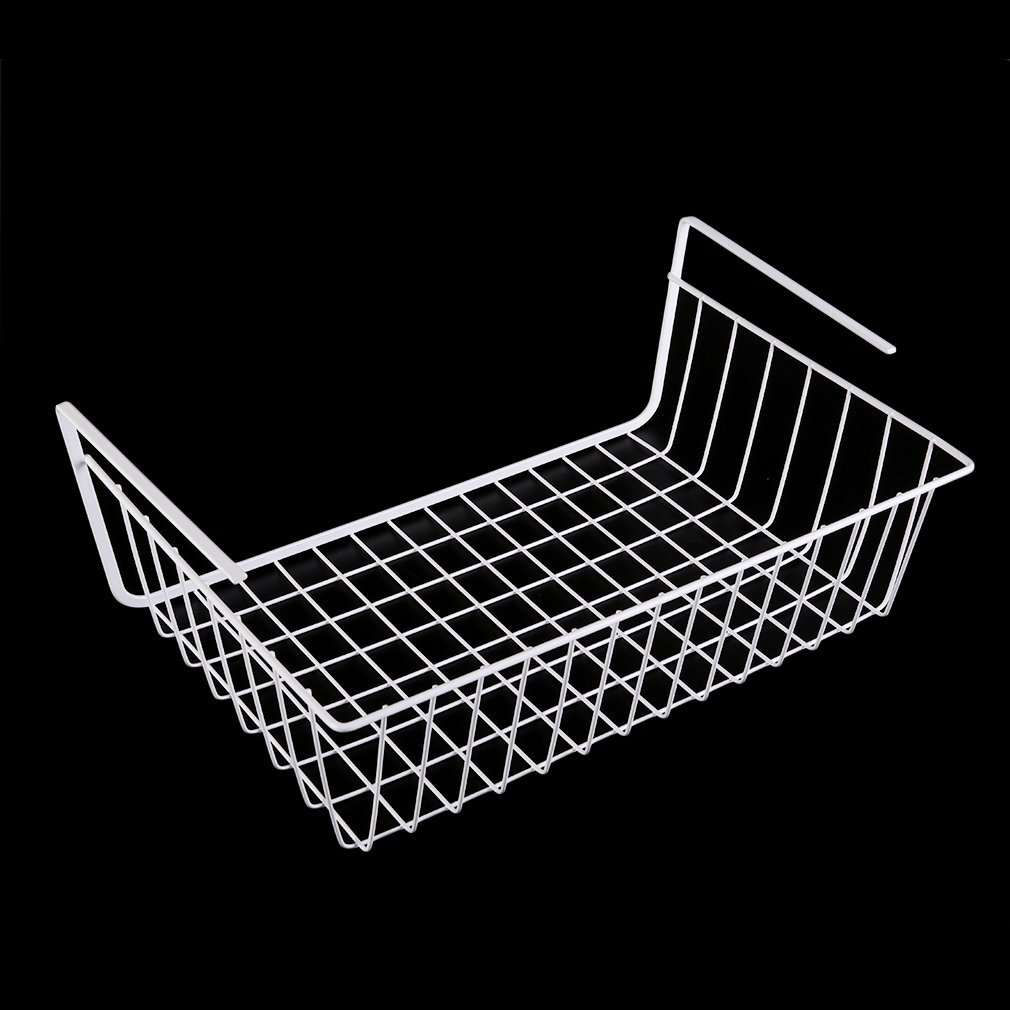 1 Pcs  Kitchen Under Shelf Storage Basket Lightweight Metal Organiser Rack