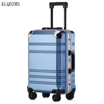 KLQDZMS 20 #8221 24Inch klasyczne torby podróżne na kółkach kobiety PC bagaż na kółkach lekka innowacyjna walizka na kółkach tanie i dobre opinie CN (pochodzenie) 4 24 5 12kg 54 66cm Rolling przechowalnia 24 30cm Spinner 33 41cm KLQDZMS-001 Unisex