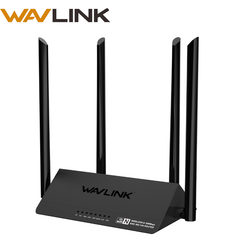 Wireless Router Wifi Amplifier Wi-Fi Router AP 2.4Ghz 300mbps WiFi Range English Firmware 4*5dBi High Gain Antennas WPS