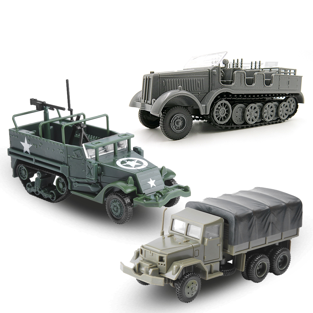 1:72 M35 Military Truck 4D Assembly Simulation Chariot 80 Wheeled Armored Vehicle Rubber-free Assembly Model Military Toy Car