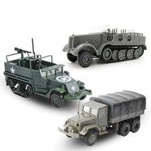 1: 72 m35 caminhão militar 4d montagem simulação carro 80 rodas veículo blindado de borracha-livre modelo de montagem militar carro de brinquedo