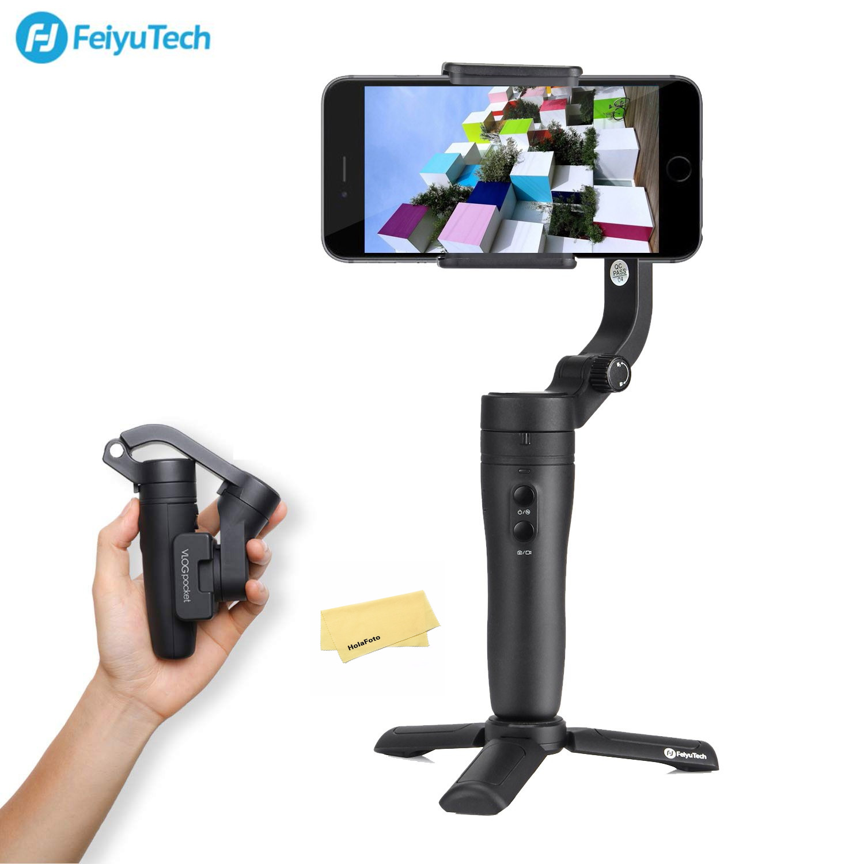 Feiyutech Vlog poche pliable téléphone cardan 3 axes stabilisateur pour iPhone Huawei Samsung One Plus Smartphone 240g charge utile