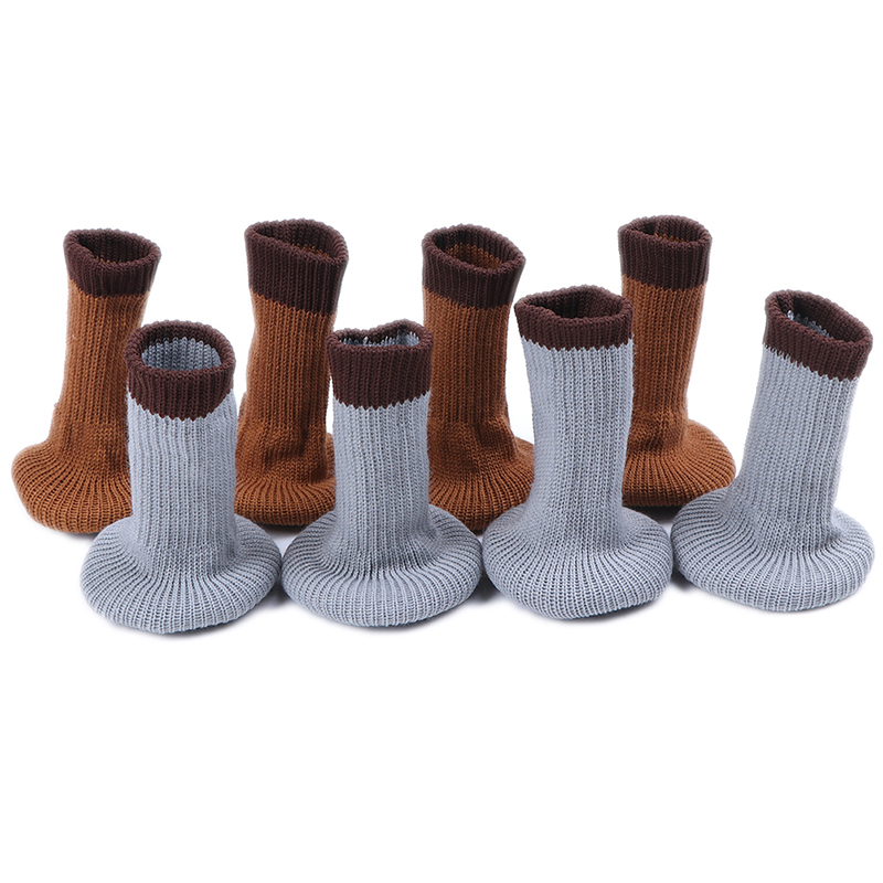 4 Pcs Bathroom Home Decor Kitchen Furniture Anti Noise Slider Caps Non-Slip Table Sock Foot Pad Chair Leg Floor