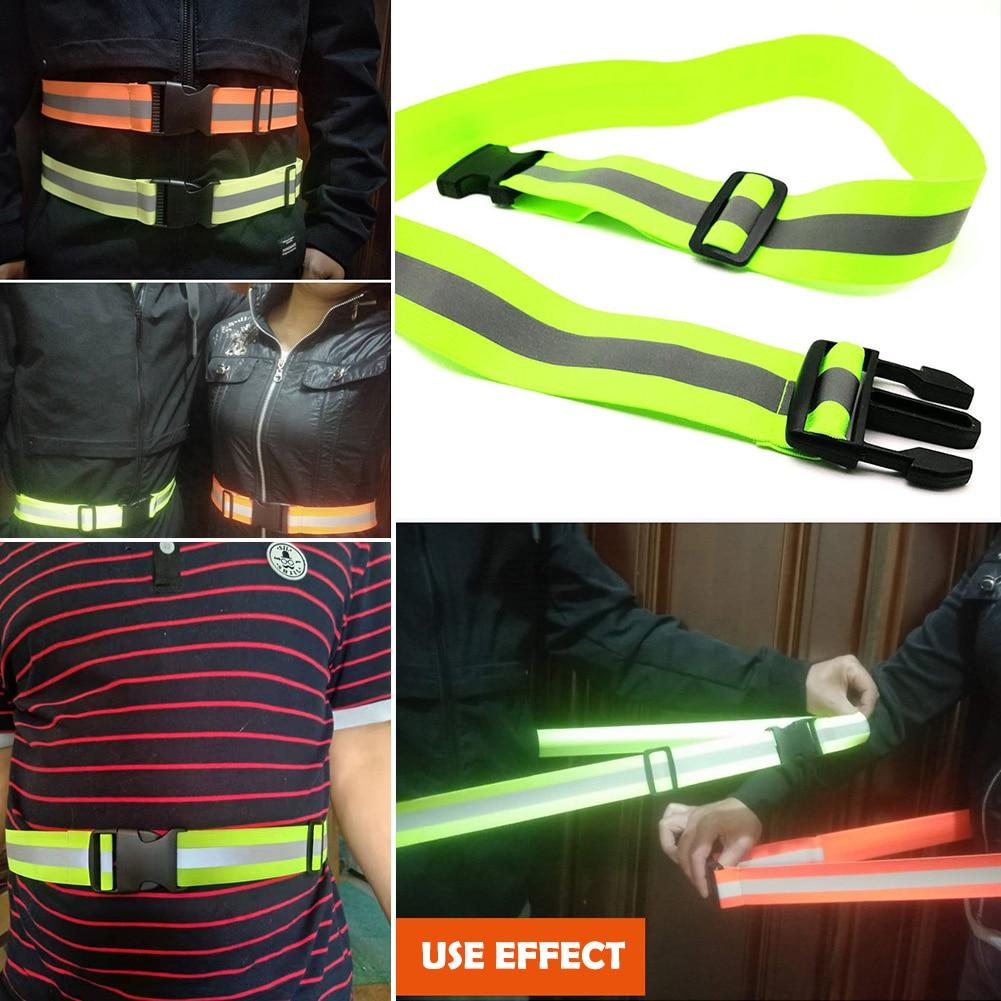Светоотражающие ремни для бега с высокой видимостью для детей мужчин женщин мужчин регулируемый эластичный светоотражающий ремень безопа...