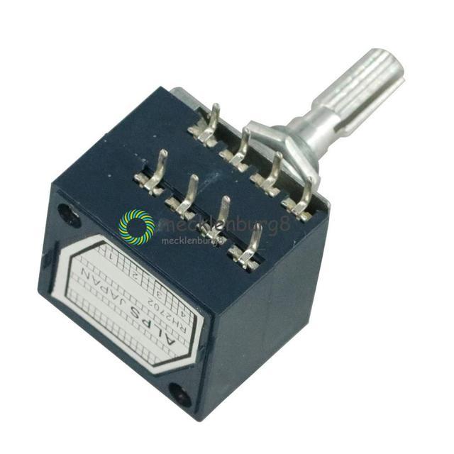 NUOVO 50K RH2702 Rotary Potenziometro LOG ALPI Controllo del Volume Audio Pentola Stereo W Volume
