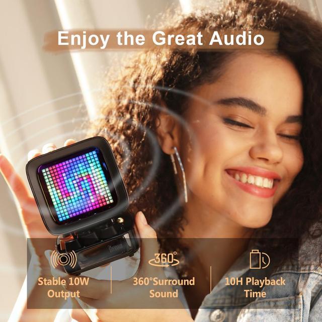 Divoom Ditoo Retro Pixel art Bluetooth Portable Speaker Alarm Clock DIY LED Screen By APP Electronic Gadget gift Home decoration 2