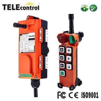 Telecontrol F21E2 3 axis 6 single speed mushroom head tele radio EOT Overhead Crane Industrial wireless remote control F21-E2