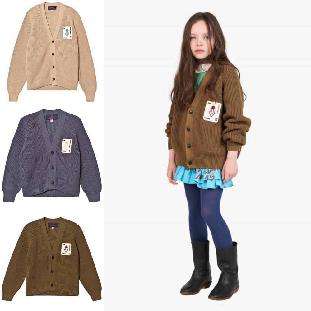 New Autumn Winter TAO Brand Girls Sweaters Long Sleeve Baby Christmas Sweater Kids Cardigan Coats Warm Boys Cardigan Clothes 6