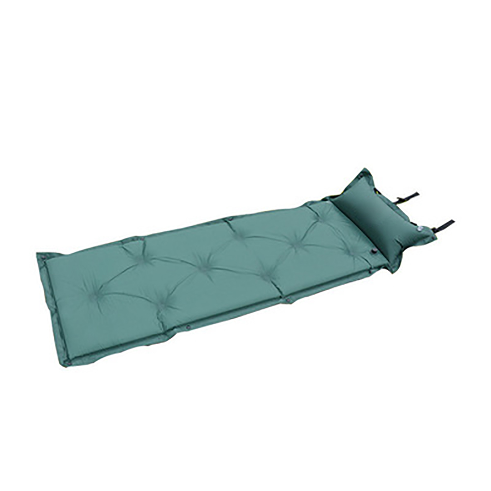 Outdoor Camping Picnic Mat Air Mattress Inflatable Sleeping Pad Thick Beach Mat Sleeping Bed with Built-in Pillow
