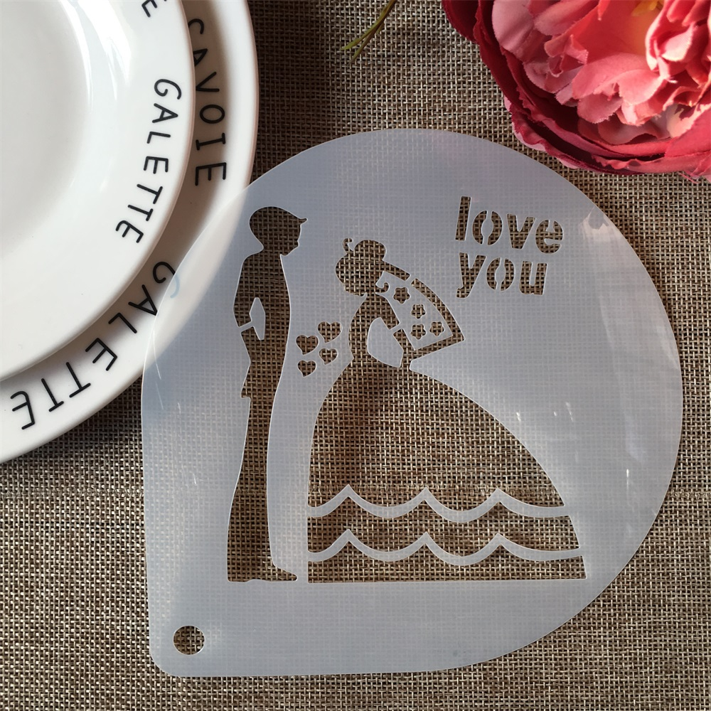 1Pcs 15cm Wedding Bride Love DIY Craft Layering Stencils Painting Scrapbooking Stamping Embossing Album Paper Card Template