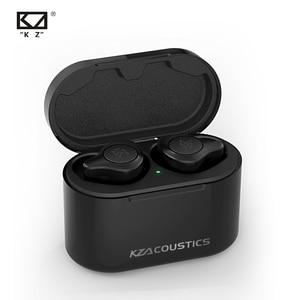KZ S2 TWS Hybrid 1BA + 1DD w uchu Monitor Bluetooth V5.0 bezprzewodowe słuchawki AAC wsparcie dla HQ AudioAnd CVC izolacja hałasu douszne