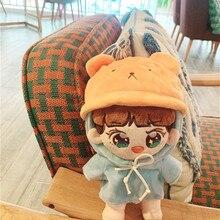 [MYKPOP] KPOP кукольная одежда и аксессуары-медведь шляпа+ свитер с капюшоном 2 шт Набор для 20 см куклы(без куклы) EXO/Bangtan SA19112305