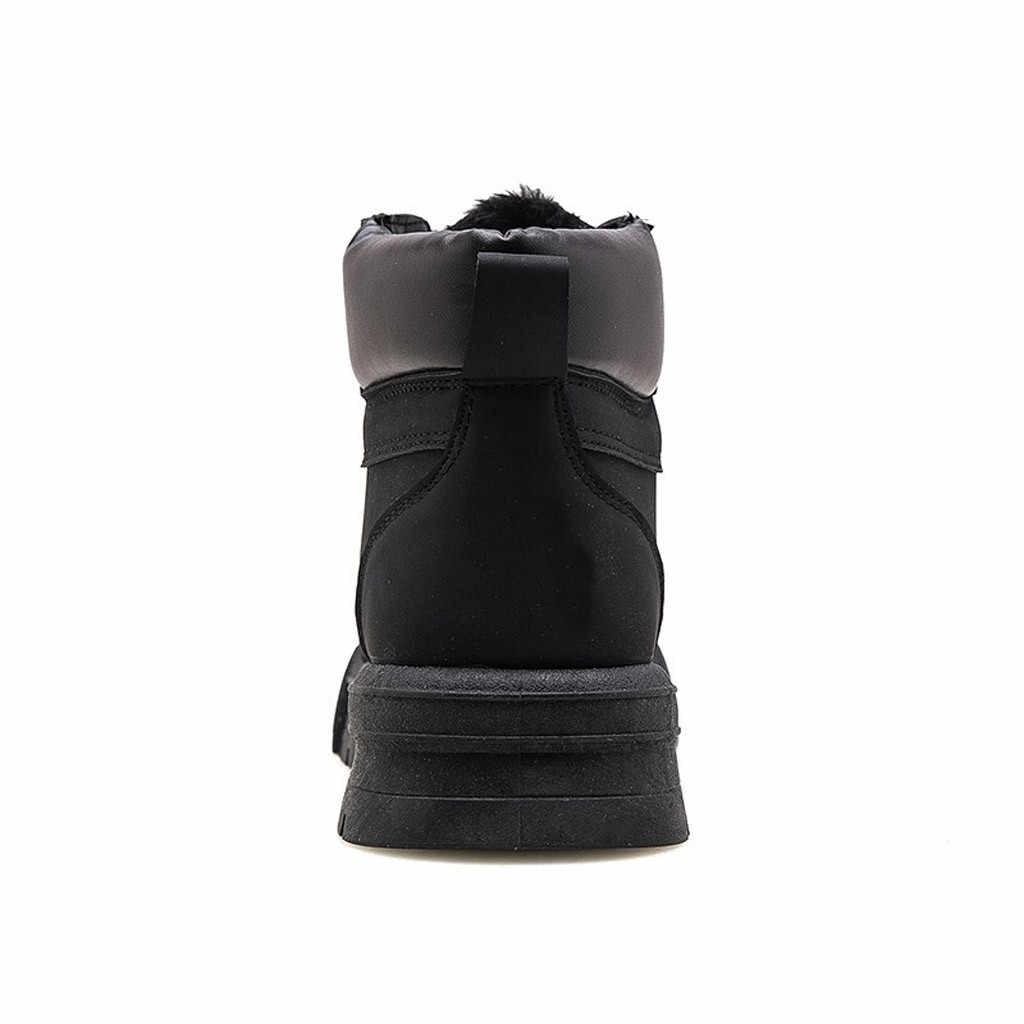男性のファッションレースアップレトロなツーリング靴ブーツカジュアル追加綿革ショートブーツオートバイ冬のブーツ Bota Ş デ Hombre