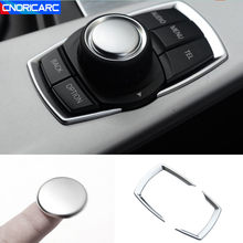 Estilo do carro console multimídia botões quadro decoração capa guarnição para bmw 1/2 series tourer f45 f20 f21 acessórios interiores