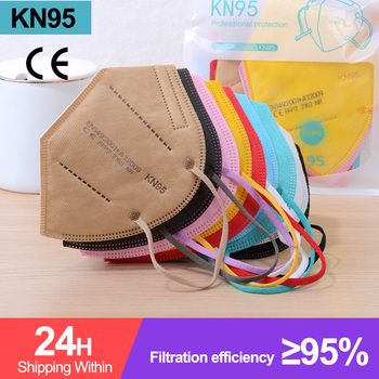 20-200pcs KN95 ffp2mask Safety Face Mouth Mask 5 Layer Filter Respirator Protective mondmask kn95 маска на рот mascarillas ffp2 - discount item  39% OFF Health Care