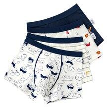 Cotton Cartoon Boy Underwear Boxer Graphic Navy Blue Boy Underpanties Children Clothes for 3 4 6 8 10 12 14 Years Old OKU203012