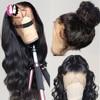 360 koronki Frontal peruka brazylijski peruka Body Wave 13x4 koronki przodu włosów ludzkich peruk dla czarnych kobiet 30 cal Mstoxic Remy 4x4 zamknięcie peruka