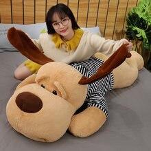 1pc 70/90CM Riesen Größe Weiche Liegen Hund Plüsch Spielzeug Stofftier Schlaf Kissen Kissen Puppen für kinder Baby Geburtstag Weihnachten Geschenke