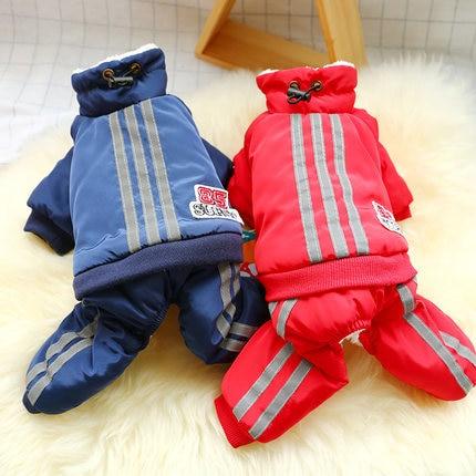Купить с кэшбэком Dog Pet Jumpsuit Winter Warm British Style Chihuahua Bulldog Ovalls for Dog Coat Cotton-Pad Bear Dog Clothes for Small Pet