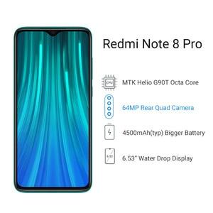Image 3 - Globale Version Xiaomi Redmi Hinweis 8 Pro 6GB 64GB Smartphone 64MP Quad Kamera MTK Helio G90T Octa Core 4500mAh NFC Handy