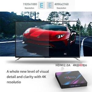 Image 4 - H96 ماكس الذكية أندرويد 9.0 صندوق التلفزيون RK3318 2.4G/5G واي فاي 4GB 64GB جوجل مساعد الصوت 60fps 4K ميديا بلاير H96MAX مجموعة صندوق