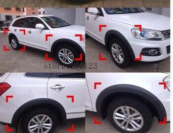 PP Car Wheel Arch Eyebrow Stripe Car Fender Wheel Modling Trims Case ZOTYE T600 T600S 3 5 4 5 5 5cm 150cm car wheel eyebrow car wheel arch protection mold anti collision fender car stickers