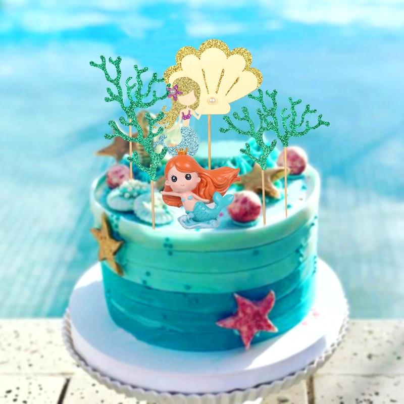Phenomenal Ocean Mermaid Cake Topper Sea Horse Cake Birthday Kids Cake Personalised Birthday Cards Xaembasilily Jamesorg