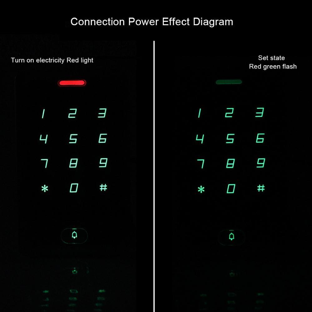 Retekess T-AC01 IP68 étanche RFID contrôle d'accès tactile clavier système de contrôle d'accès de porte 125KHZ boîtier en métal coque rétro-éclairage
