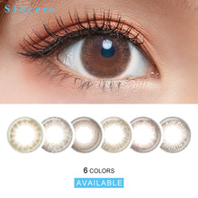 Sincere-vision Colored Contact Lenses for Eyes Cosmetic Colorful Beauty Colored Contacts Lenses Blue Yearly Color 10pcs/box