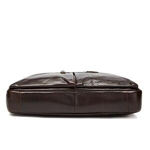 Image 4 - WESTAL sac à bandoulière en cuir véritable pour hommes, sac à épaule/fourre tout sacs pour ordinateur portable
