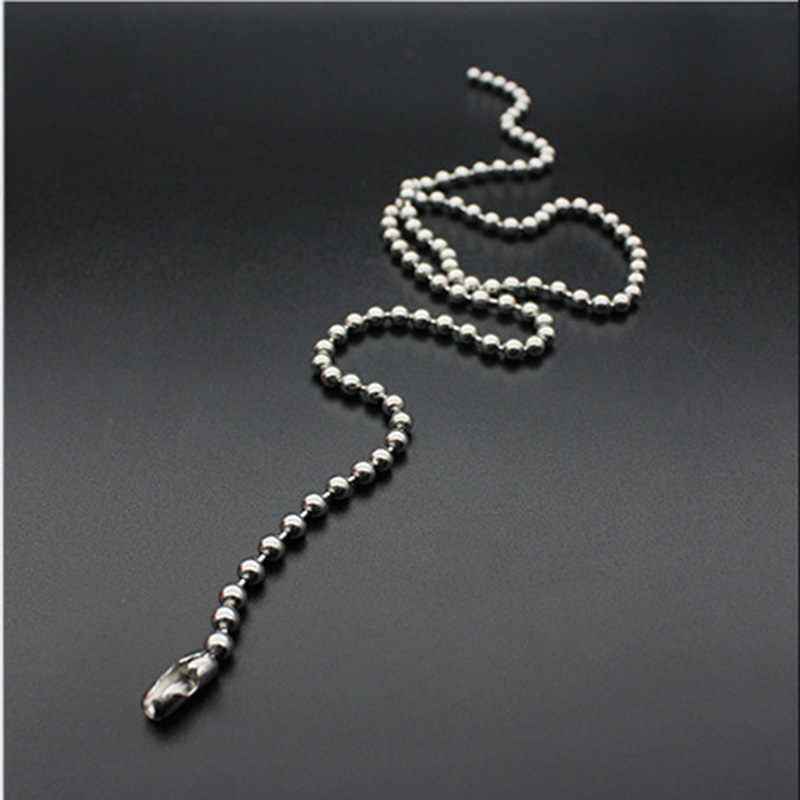 WIWI 1 sztuk 1.5/2.0/2.4/3.0 ze stali nierdzewnej zroszony łańcuch luzem Ball paciorek łańcuchy dla DIY naszyjniki akcesoria do wyrobu biżuterii