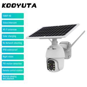 Wireless WIFI Camera 1080P HD 8W Solar Panel Battery Security Camera Outdoor PTZ Camera Surveillance Smart Security Monitor