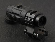Tactical 1x Red Dot Sight Rifle Scope 3x Magnifler & QD Picatinny Del Tessitore Mount Base M5784