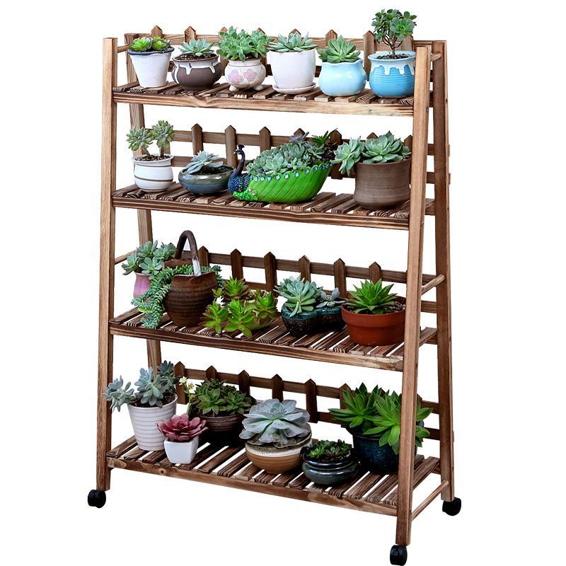 Wooden Varanda Terraza Etagere Plante Estante Para Flores Garden Shelves For Plant Dekoration Balcony Shelf Outdoor Flower Stand