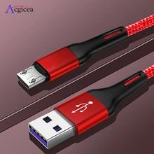1m 2m 3m micro cabo usb para xiaomi redmi nota 5 pro android cabo de dados do telefone móvel para samsung s7 carregamento rápido micro carregador