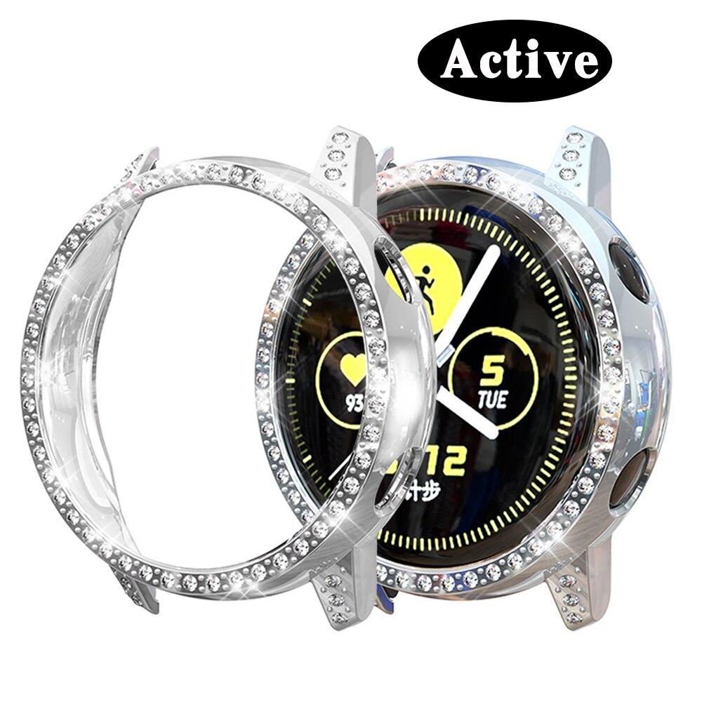 Чехол для Samsung active, Алмазная крышка, бампер, защита, полное покрытие, силиконовые аксессуары для защиты экрана смарт-часов