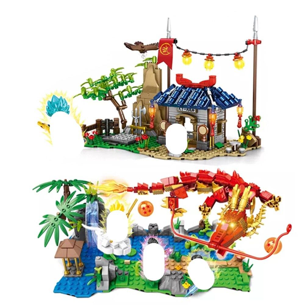 NEW Dragon COMICS Ball Son Goku Super Saiyan 4 Big Chaos Building Blocks Bricks Classic Model Kids Toys Compatible