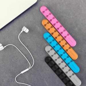 Image 2 - ORICO Organizer do kabli silikonowy Organizer do zwijania kabla USB Desktop Tidy Management kabel z zaciskami uchwyt do myszy przewód słuchawek Organizer