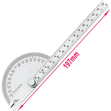 High quality 180 degree semicircular protractor angle ruler 0 145mm divider stainless steel  gauge wood