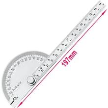 Hohe qualität 180 grad halbrunden winkelmesser winkel herrscher 0 145mm divider edelstahl gauge holz
