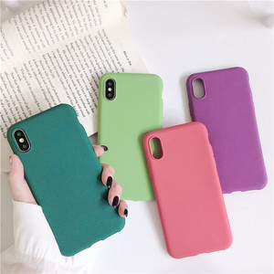 Matte Couple Solid Color Cover Phone Case For Huawei Honor 8 8X 9X 10 20 V20 Mate 20 30 P20 P30 Pro Lite Soft TPU Silicone Funda(China)