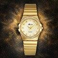 Часы MISSFOX женские  модные  роскошные  золотые  с логотипом знаменитого бренда