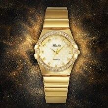 Модные часы missfox женские модные роскошные золотые наручные