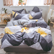 Luxury Bed Linen Pure Cotton Bedding Set A B double sided pattern Twin Full Queen King