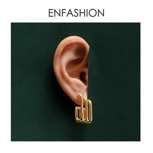 Image 2 - ENFASHION Punk Multiple C Shape Stud Earrings For Women Gold Color OL Minimalist Geometric Earings Fashion Jewelry E191079